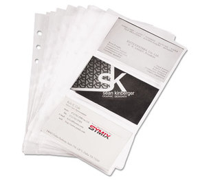 SAMSILL CORPORATION 81079 Business Card Binder Refill Pages, Six 2 x 3 1/2 Cards/Page, Clear, 10 Pages/PK by SAMSILL CORPORATION