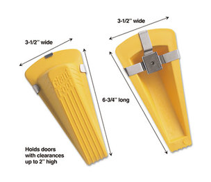 MASTER CASTER COMPANY 00967 Giant Foot Magnetic Doorstop, No-Slip Rubber Wedge, 3-1/2w x 6-3/4d x 2h, Yellow by MASTER CASTER COMPANY