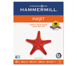Hammermill 105050 Inkjet Paper, 96 Brightness, 24lb, 8 1/2 x 11, White, 500 Sheets/Ream by HAMMERMILL/HP EVERYDAY PAPERS