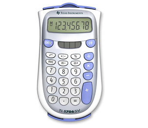 TEXAS INSTRUMENTS INC. 1706SV/FBL/2L1 TI-1706SV 8-Digit Display Standard Function Calculator