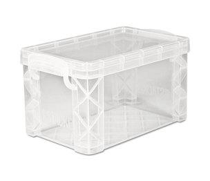 Advantus Corporation 40307 Super Stacker Storage Boxes, Hold 400 3 x 5 Cards, Plastic, Clear by ADVANTUS CORPORATION
