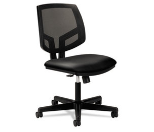 HON COMPANY H5713.SB11.T Volt Series Mesh Back Task Chair with Synchro-Tilt, Black Leather by HON COMPANY