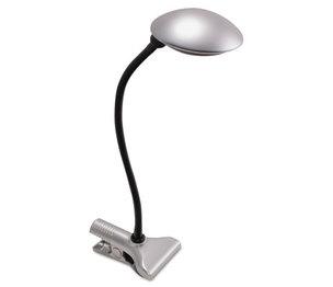 LEDU CORP. LED-L9145 3W Clip-On Domed LED Desk Task Lamp, 8w x 18h, Silver by LEDU CORP.