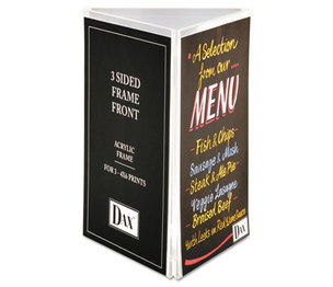 DAX MANUFACTURING INC. N1620G1T Three-Sided Sign/Photo Holder, 4 x 6, Clear by DAX MANUFACTURING INC.