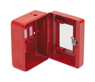 Hercules Emergency Safe, Steel, 0.05 ft3, 4-3/4w x 6d x 3h, Red by FIRE KING INTERNATIONAL