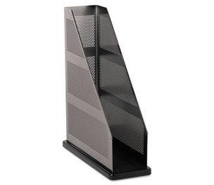 ROLODEX E22635 Distinctions Magazine File, 3 3/4 x 10 1/4 x 12, Metal/Black by ROLODEX