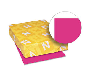 Neenah Paper, Inc 22881 Astrobrights Colored Card Stock, 65 lb., 8-1/2 x 11, Fireball Fuchsia, 250 Shts by NEENAH PAPER