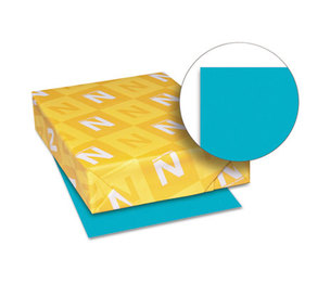 Neenah Paper, Inc 22479 Astrobrights Colored Paper, 24lb, 8-1/2 x 11, Terrestrial Teal, 500 Sheets/Ream by NEENAH PAPER
