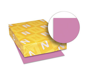 Neenah Paper, Inc 21951 Astrobrights Colored Card Stock, 65 lb, 8-1/2 x 11, Outrageous Orchid, 250 Shts by NEENAH PAPER