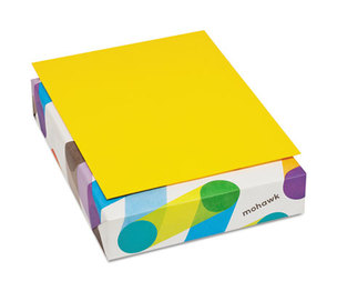 Mohawk Fine Papers, Inc 472808 BriteHue Multipurpose Colored Paper, 20lb, 8 1/2 x 11, Sun Yellow, 500 Shts/Rm by MOHAWK FINE PAPERS