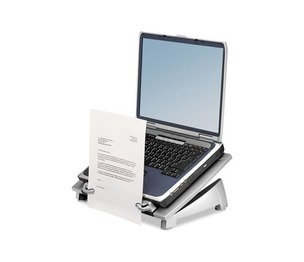 Fellowes, Inc 8036701 Office Suites Laptop Riser Plus, 15 1/8 x 11 3/8 x 6 1/2, Black/Silver by FELLOWES MFG. CO.