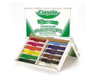 BINNEY & SMITH / CRAYOLA 684240 Watercolor Wood Pencil Classpack, 3.3 mm, 12 Asstd Clrs, 240 Pencils/Box by BINNEY & SMITH / CRAYOLA