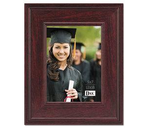 DAX MANUFACTURING INC. N15787HT Executive Document/Photo Frame, Desk/Wall Mount, Plastic, 5 x 7, Mahogany by DAX MANUFACTURING INC.