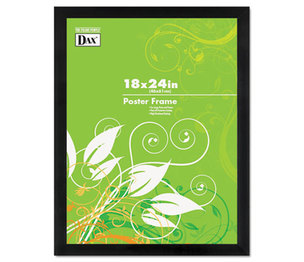 DAX MANUFACTURING INC. 2863W2X Black Solid Wood Poster Frames w/Plastic Window, Wide Profile, 18 x 24 by DAX MANUFACTURING INC.
