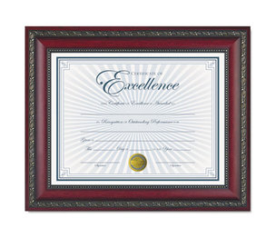 DAX MANUFACTURING INC. N3245N3T World Class Document Frame w/Certificate, Rosewood, 8 1/2 x 11 by DAX MANUFACTURING INC.