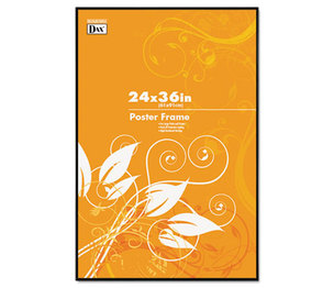 DAX MANUFACTURING INC. N16024BT Coloredge Poster Frame, Clear Plastic Window, 24 x 36, Black by DAX MANUFACTURING INC.