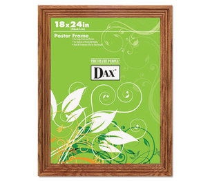 DAX MANUFACTURING INC. 2856W1X Plastic Poster Frame, Traditional Clear Plastic Window, 18 x 24, Medium Oak by DAX MANUFACTURING INC.