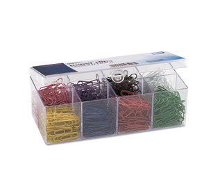 OFFICEMATE INTERNATIONAL CORP. OIC-97228 Plastic Coated Paper Clips, No. 2 Size, Assorted Colors, 800/Pack by OFFICEMATE INTERNATIONAL CORP.