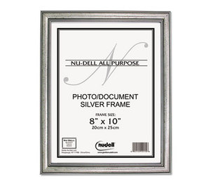 Nu-Dell Manufacturing Company, Inc 14281 Antique Silver Finish Wood Frame, 8 x 10 by NU-DELL MANUFACTURING