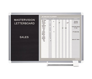 Bi-silque S.A GA0387830 In-Out and Notice Board, 36x24, Silver Frame by BI-SILQUE VISUAL COMMUNICATION PRODUCTS INC
