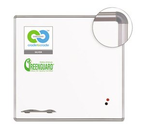 BALT INC. E2H2PD Green Rite Dry Erase Board, 48 x 48, White, Silver Frame by BALT INC.