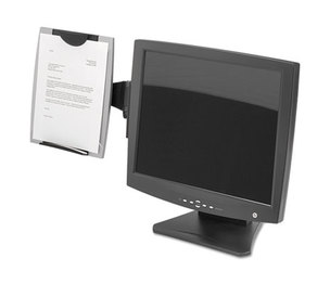 Fellowes, Inc 8033301 Office Suites Monitor Mount Copyholder, Plastic, Holds 150 Sheets, Black/Silver by FELLOWES MFG. CO.
