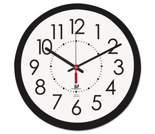 """Chicago Lighthouse Industries 67801103 Electric Contemporary Clock, 14-1/2"""", Black by CHICAGO LIGHTHOUSE FOR THE BLIND"""