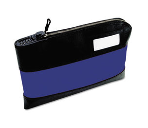 MMF INDUSTRIES 2330981TXW08 Rugged Combination Deposit Bag, 11 x 1 x 8 1/2, Nylon, Navy by MMF INDUSTRIES