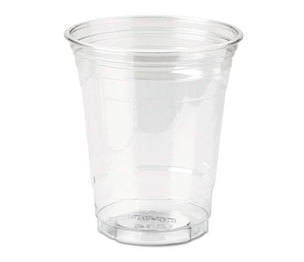 DIXIE FOOD SERVICE CP12DX Clear Plastic PETE Cups, Cold, 12oz, WiseSize, 25/Pack, 20 Packs/Carton by DIXIE FOOD SERVICE