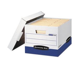 Fellowes, Inc 00724303 R-KIVE Max Storage Box, Letter/Legal, Locking Lid, White/Blue, 4/Carton by FELLOWES MFG. CO.