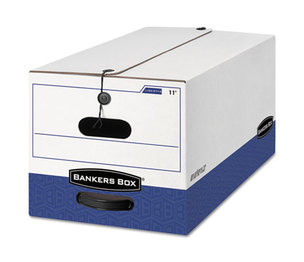 Fellowes, Inc 0001203 LIBERTY Heavy-Duty Strength Storage Box, Legal, White/Blue, 4/Carton by FELLOWES MFG. CO.