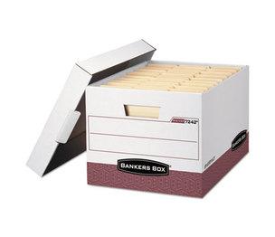 Fellowes, Inc 07242 R-KIVE Max Storage Box, Letter/Legal, Locking Lid, White/Red 12/Carton by FELLOWES MFG. CO.