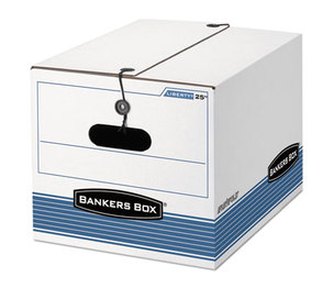 Fellowes, Inc 00025 STOR/FILE Extra Strength Storage Box, Letter/Legal, White/Blue, 12/Carton by FELLOWES MFG. CO.