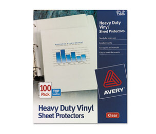 Avery 73900 Top-Load Vinyl Sheet Protectors, Heavy Gauge, Letter, Clear, 100/Box by AVERY-DENNISON