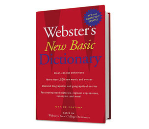 HOUGHTON MIFFLIN COMPANY H25080 Webster's New Basic Dictionary, Office Edition, Paperback, 896 Pages by HOUGHTON MIFFLIN COMPANY