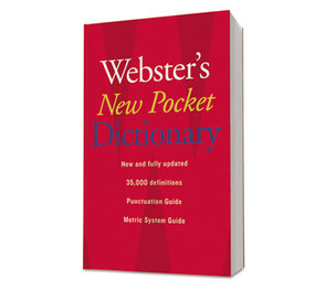HOUGHTON MIFFLIN COMPANY 1019934 Webster's New Pocket Dictionary, Paperback, 336 Pages by HOUGHTON MIFFLIN COMPANY