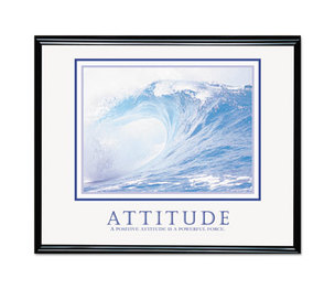 "Advantus Corporation 78024 Attitude/Waves"" Framed Motivational Print, 30 x 24 by ADVANTUS CORPORATION"