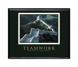 "Advantus Corporation 78025 ""Teamwork"" (Great Wall Of China) Framed Motivational Print, 30 x 24 by ADVANTUS CORPORATION"