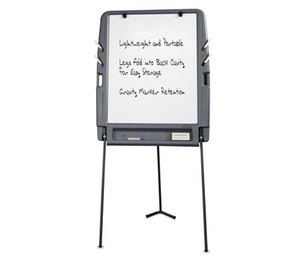 ICEBERG ENTERPRISES, LLC 30227 Portable Flipchart Easel With Dry Erase Surface, Resin, 35 x 30 x 73, Charcoal by ICEBERG ENTERPRISES