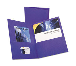ESSELTE CORPORATION 57514 Twin-Pocket Portfolio, Embossed Leather Grain Paper, Purple, 25/Box by ESSELTE PENDAFLEX CORP.