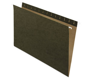 Hanging File Folders, Untabbed, Legal, Standard Green, 25/Box by ESSELTE PENDAFLEX CORP.