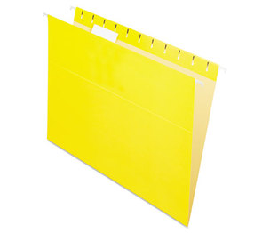 Cardinal Brands, Inc 81606 Essentials Colored Hanging Folders, 1/5 Tab, Letter, Yellow, 25/Box by ESSELTE PENDAFLEX CORP.