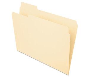 ESSELTE CORPORATION 752-1/3-1 File Folders, 1/3 Cut, First Position, Top Tab, Letter, Manila, 100/Box by ESSELTE PENDAFLEX CORP.