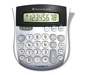 TEXAS INSTRUMENTS INC. 1795SV/FBL/2L1 TI-1795SV 8-Digit Display Standard Function Calculator