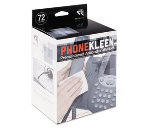 READ/RIGHT RR1303 PhoneKleen Wet Wipes, Cloth, 5 x 5, 72/Box by READ/RIGHT