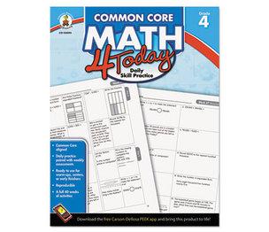 Carson-Dellosa Publishing Co., Inc 104593 Common Core 4 Today Workbook, Math, Grade 4, 96 pages by CARSON-DELLOSA PUBLISHING