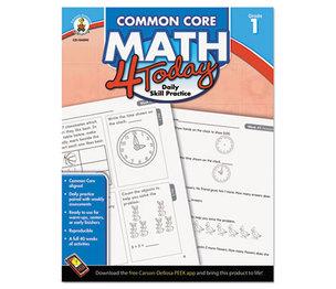 Carson-Dellosa Publishing Co., Inc 104590 Common Core 4 Today Workbook, Math, Grade 1, 96 pages by CARSON-DELLOSA PUBLISHING