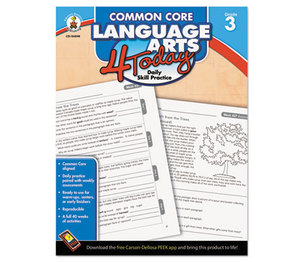 Carson-Dellosa Publishing Co., Inc 104598 Common Core 4 Today Workbook, Language Arts, Grade 3, 96 pages by CARSON-DELLOSA PUBLISHING