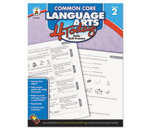 Carson-Dellosa Publishing Co., Inc 104597 Common Core 4 Today Workbook, Language Arts, Grade 2, 96 pages by CARSON-DELLOSA PUBLISHING