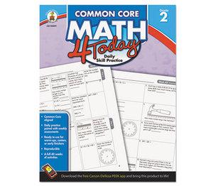 Carson-Dellosa Publishing Co., Inc 104591 Common Core 4 Today Workbook, Math, Grade 2, 96 pages by CARSON-DELLOSA PUBLISHING
